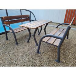 Zahradní set /2 x lavička + stůl/